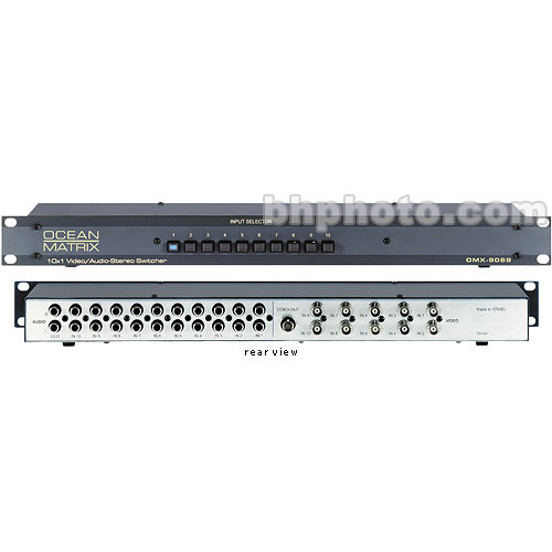 Ocean Matrix OMX-9069 10x1 Passive Audio Video Switcher