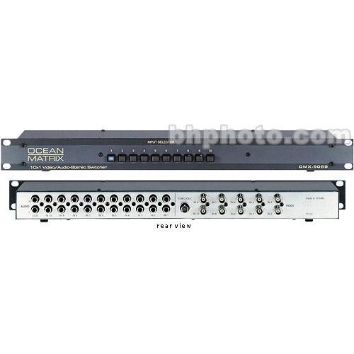 Ocean Matrix OMX-9069 10x1 Passive Audio Video Switcher