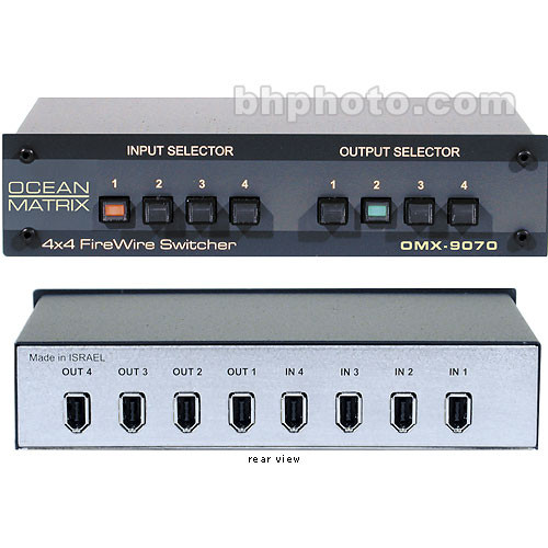 Ocean Matrix OMX-9070 Passive 6-Pin FireWire Switcher - 4x4