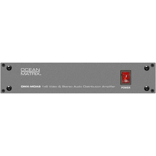 Ocean Matrix OMX-EU/MD6 1x6 Video & Stereo Audio Distribution Amplifier