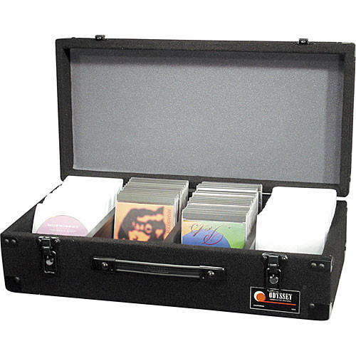 Odyssey Innovative Designs CCD300E Carpeted CD Case (Black)