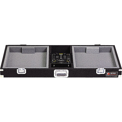 Odyssey Innovative Designs CDJ10 Pro Carpeted Turntable Coffin Case (Black)