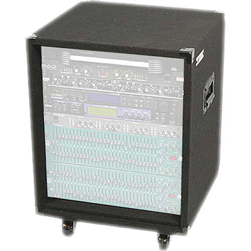 Odyssey Innovative Designs CRE12W Carpeted Econo Rack Case (Black)