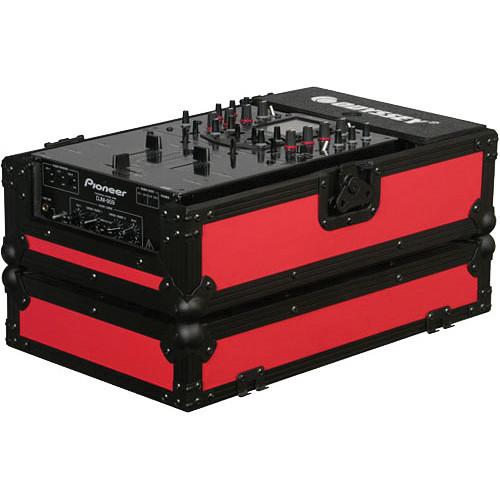 Odyssey Innovative Designs FR10MIXBKRED Flight Ready DJ Mixer Case (Black and Red)