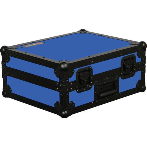 Odyssey Innovative Designs FR1200BKBLUE Flight Ready Series Turntable Case (Black and Blue)