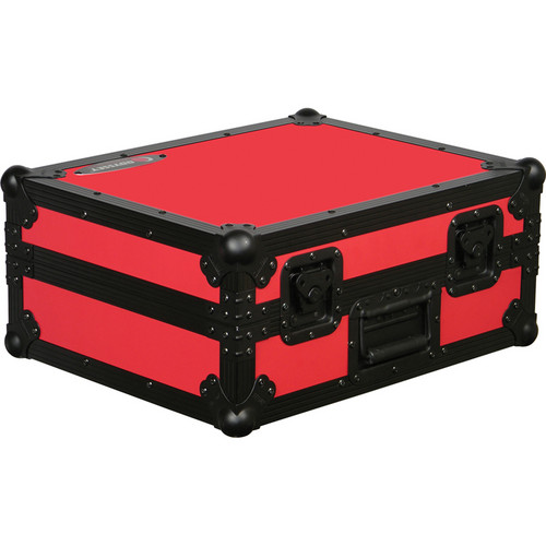 Odyssey Innovative Designs FR1200BKRED Flight Ready Series Turntable Case (Black and Red)