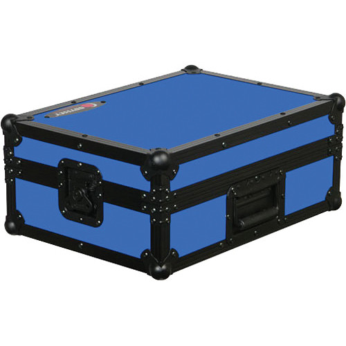 Odyssey Innovative Designs FR12MIXBKBLUE Flight Ready DJ Mixer Case (Black and Blue)