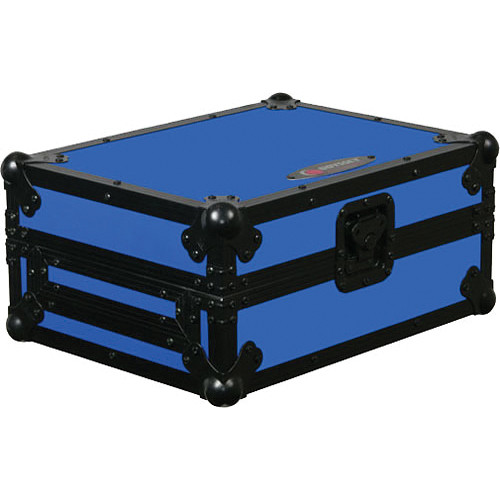 Odyssey Innovative Designs FRCDJBKBLUE Flight Ready CD Player Case (Black and Blue)