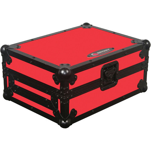Odyssey Innovative Designs FRCDJBKRED Flight Ready CD Player Case (Black and Red)