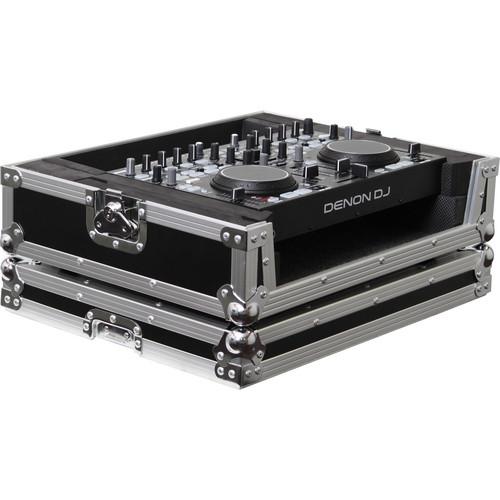 Odyssey Innovative Designs FRDNMC36000 Denon DN-MC3000/6000 DJ MIDI Controller Flight Ready Series Case (Black/Chrome)