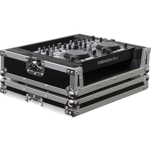 Odyssey Innovative Designs FRDNMC36000 Denon DN-MC3000/6000 DJ MIDI Controller Flight Ready Series Case (Black/Chrome)