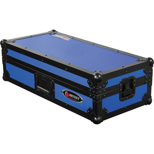 Odyssey Innovative Designs FRDNX1200BKBLU Designer DJ Coffin Case (Blue)