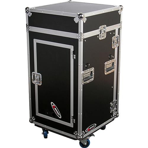 Odyssey Innovative Designs FRGS1016WDLX Flight Ready Glide Style Combo Rack Case Deluxe