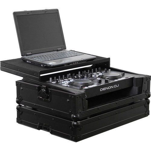 Odyssey Innovative Designs FRGSDNMC36000BL Flight Ready Black Label Glide Style Case for the DN-MC3000/6000 DJ MIDI Controller (Black)