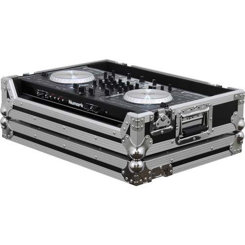 Odyssey Innovative Designs FRNS6 Numark NS6 DJ MIDI Controller Flight Ready Case (Black/Chrome)