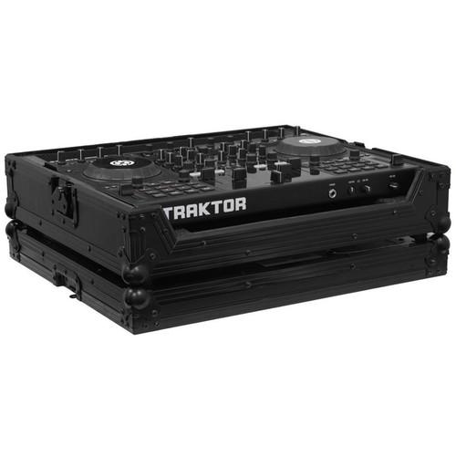 Odyssey Innovative Designs FRTS4BL Traktor Kontrol S4 DJ MIDI Controller Flight Ready Series Black Label Case (Black)