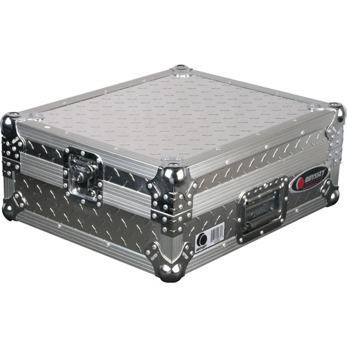 Odyssey Innovative Designs FTTDIA Flight-Zone Turntable Case (Textured Silver))
