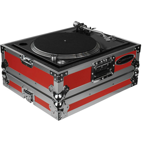 Odyssey Innovative Designs FTTX Flight-Style Turntable Case (Red)