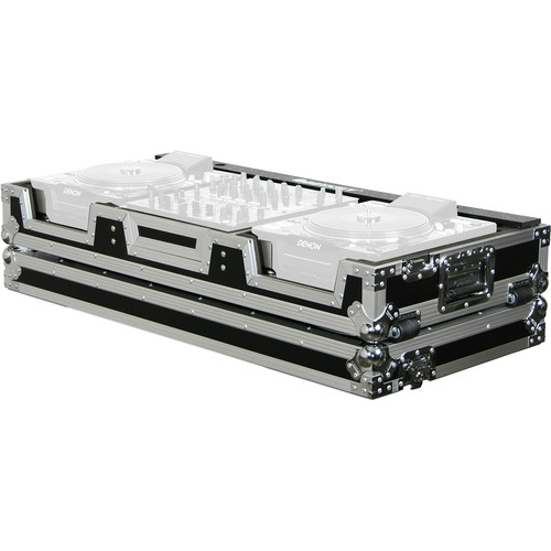 "Odyssey Innovative Designs FZ12CDJW Flight Zone DJ CD 12"" Mixer Controls Coffin with Wheels"