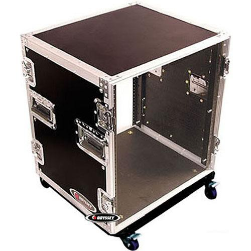 Odyssey Innovative Designs FZAR12 Flight Zone 12 Space Amp Rack Case with Wheels