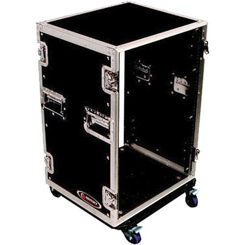 Odyssey Innovative Designs Flight Zone 16-Space Amp Rack Case with Wheels