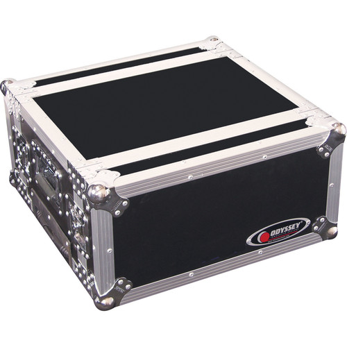 Odyssey Innovative Designs FZER4HW Flight Zone Rolling Shallow Four Space Special Effects Rack Case