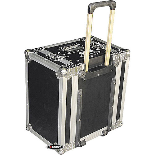 Odyssey Innovative Designs FZER6HW Flight Zone Rolling Shallow Six Space Special Effects Rack Case