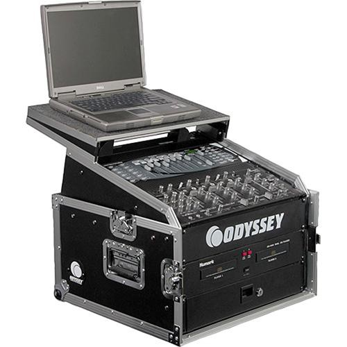 Odyssey Innovative Designs FZGS1004 Flight Zone Glide Style Slanted Rack Case