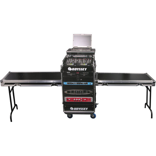 Odyssey Innovative Designs FZGS1214WDLXII Deluxe Dual Table Glide Style Combo Rack 12 over 14 Case