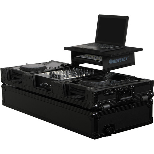 Odyssey Innovative Designs FZGS12CDJWBL Flight Zone Black Label Glide Style ATA Flight Case (Black)