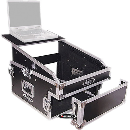 Odyssey Innovative Designs FZGS1304 Flight Zone Glide Style Slanted 13+4 Space Combo Rack Case