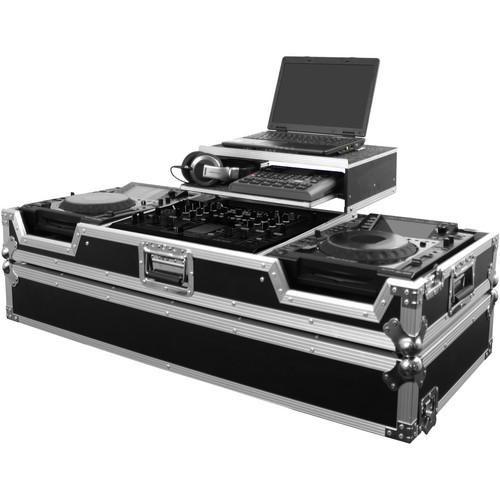 Odyssey Innovative Designs FZGS22000W Flight Zone Glide Style DJ Coffin Case (Black/Chrome)