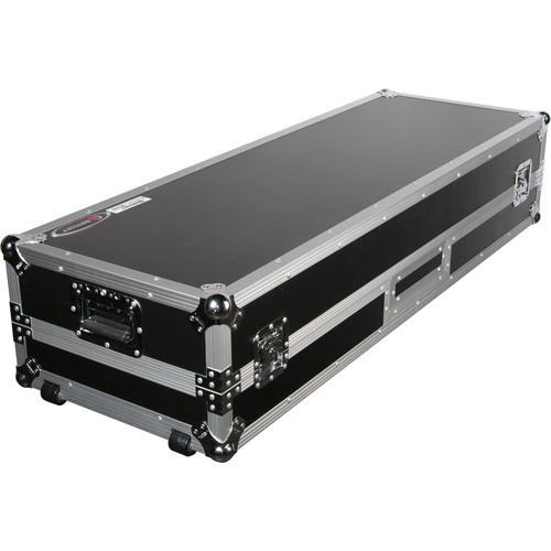 "Odyssey Innovative Designs FZGSDJ10W Flight Zone Glide Style Laptop DJ 10"" Mixer Coffin with Wheels"