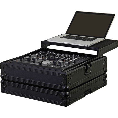 Odyssey Innovative Designs FZGSDJM2000BL Black Label Flight Zone Glide Style Pioneer DJM-2000 DJ Mixer Case (Black)