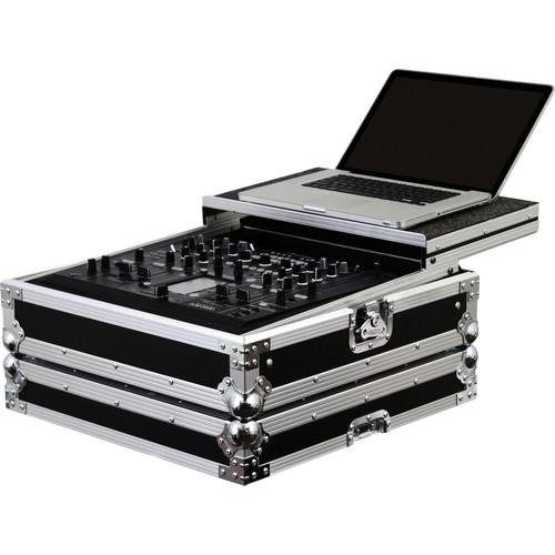 Odyssey Innovative Designs FZGSDJM2000 Flight Zone Glide Style Pioneer DJM-2000 DJ Mixer Case (Black/Chrome)