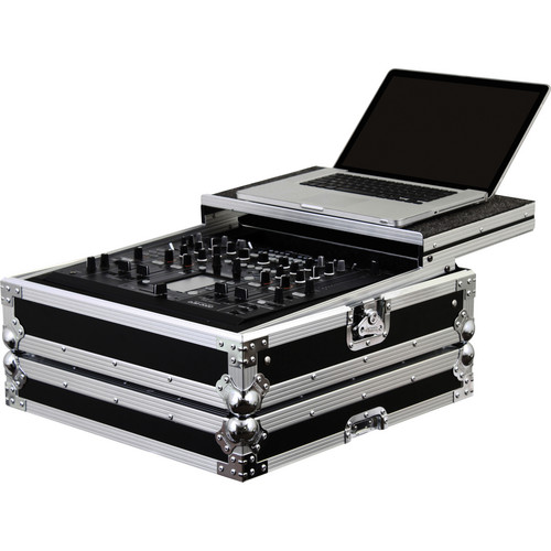 Odyssey Innovative Designs FZGSDJM2000 Flight Zone Glide Style Pioneer DJM-2000 DJ Mixer Case (Black/Chrome)
