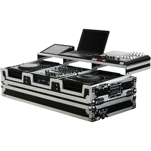 Odyssey Innovative Designs Remixer Glide Style Series: CD/Digital Media DJ Coffin (Black/Silver)