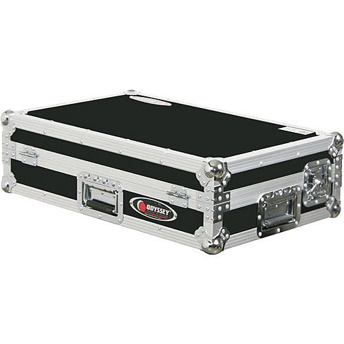 Odyssey Innovative Designs FZMIXDECK Numark MIXDECK ATA Flight Zone Case (Black on Chrome)