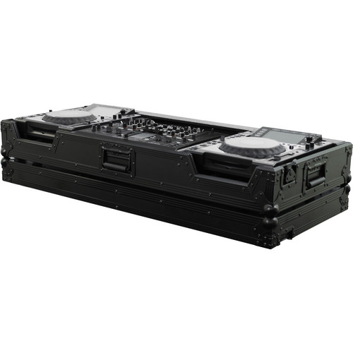 Odyssey Innovative Designs FZPI22000WBL Flight Zone Series DJ Coffin for a Pioneer DJM-2000 DJ Mixer and 2 Large Format Tabletop CD Digital Media Players (Black)