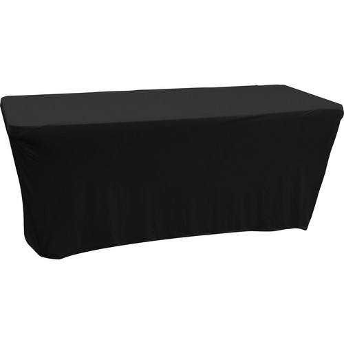 Odyssey Innovative Designs Scrim Werks 6' Banquet Table Slip Screen Designer Scrim (Black)
