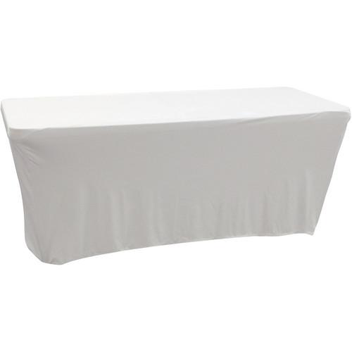 Odyssey Innovative Designs Scrim Werks 6' Banquet Table Slip Screen Designer Scrim (White)