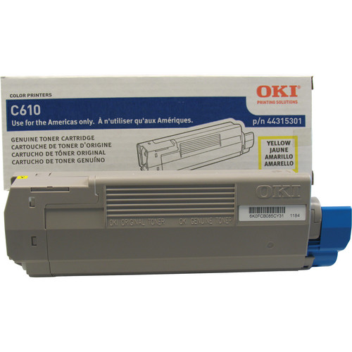 OKI C610 Series Yellow Cartridge (8000 Pages)