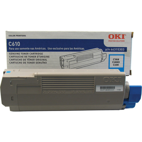 OKI C610 Series Cyan Cartridge (8000 Pages)
