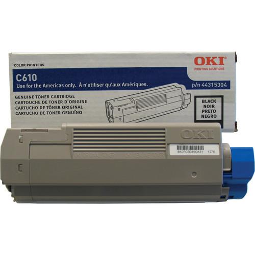 OKI C610 Series Black Cartridge (8000 Pages)
