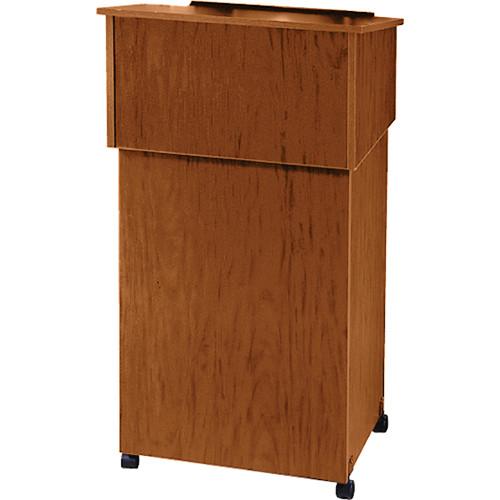 Oklahoma Sound 22/112 Table-Top Lectern and Lectern Base Cart Combo (Medium Oak)