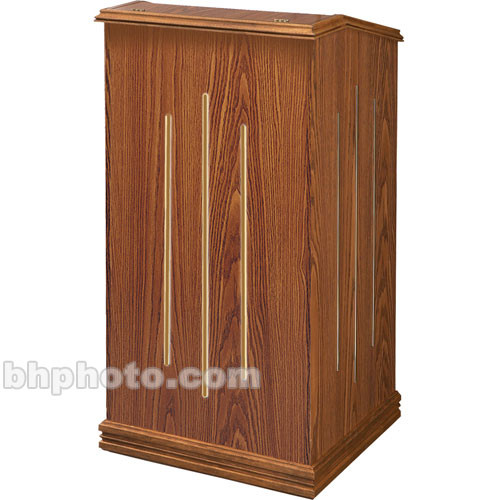 Oklahoma Sound Aristocrat Full-Floor Lectern #501 (Med. Oak Laminate)
