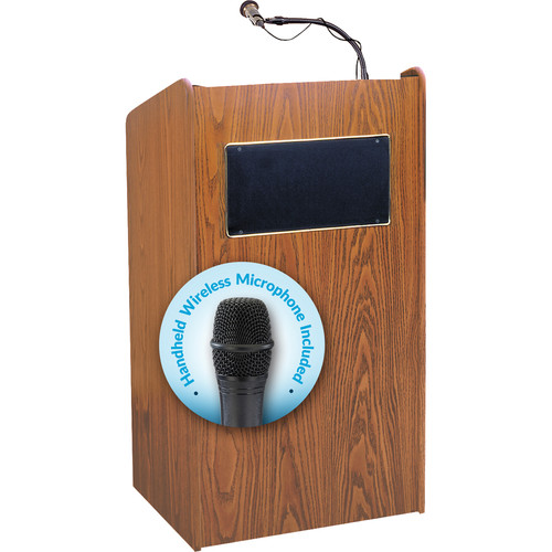 Oklahoma Sound Sound Lectern #6010 (Medium Oak)
