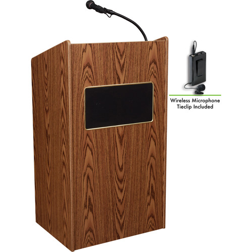 Oklahoma Sound Sound Lectern #6010 (Medium Oak)