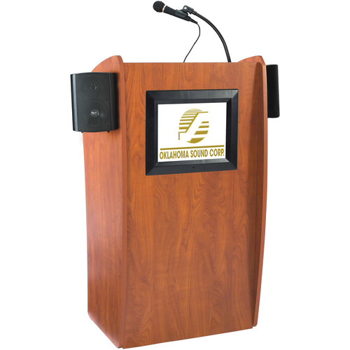 Oklahoma Sound Vision Floor Lectern with LCD Display and Speakers
