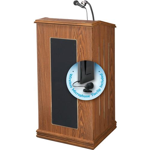 Oklahoma Sound Prestige Sound Lectern #711 (Medium Oak) w/ LWM-6